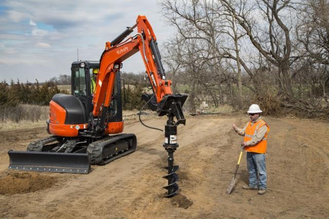 Excavator E35 Bobcat W Auger Rentals Mount Vernon Wa