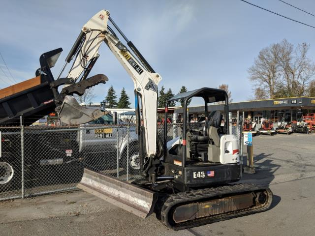 Where to find Excavator, Bobcat E45 w Thumb  red in Mount Vernon