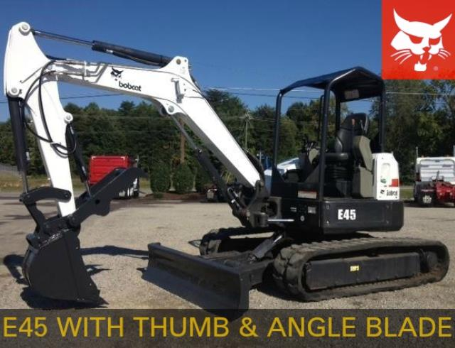 Where to find Excavator, Bobcat E45 w Thumb, 10,000lb in Mount Vernon